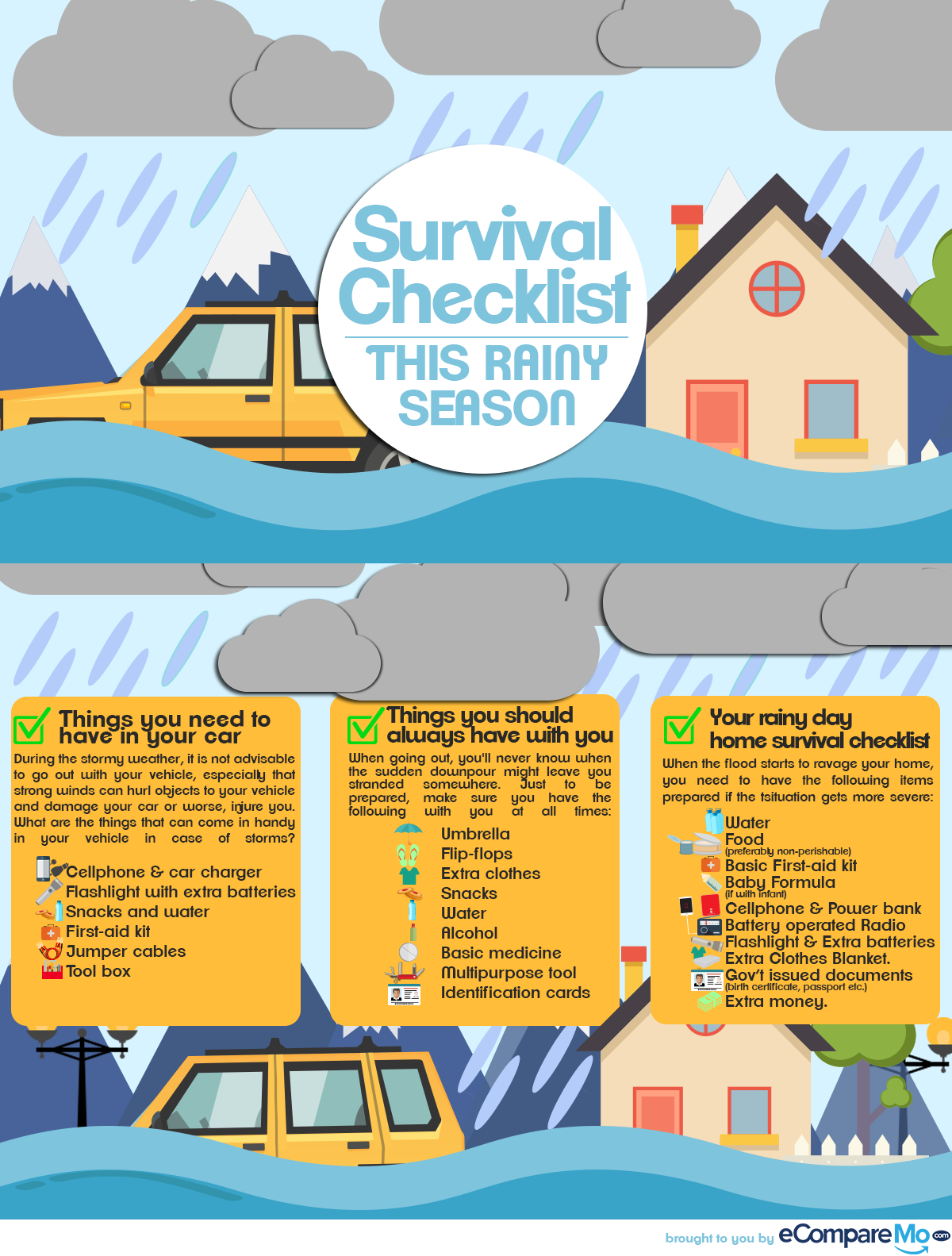 INFOGRAPHIC: Survival Checklist This Rainy Season